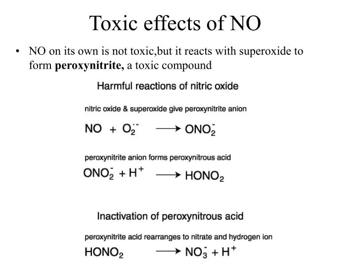 Toxic effects of NO