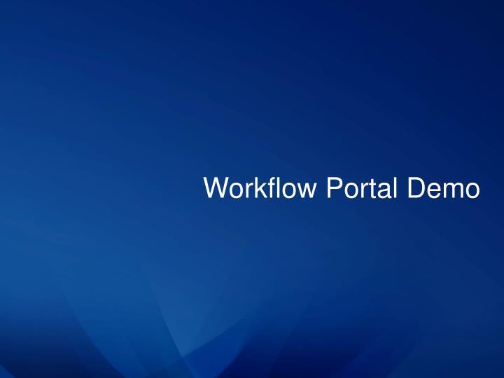 Workflow Portal Demo