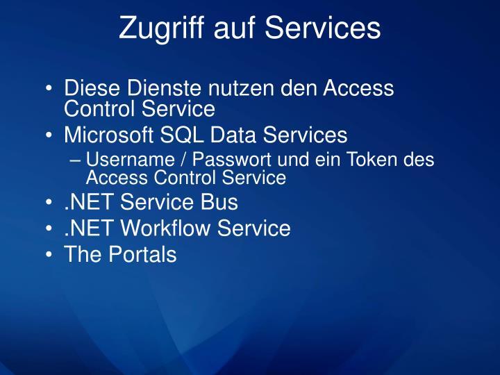 Zugriff auf Services