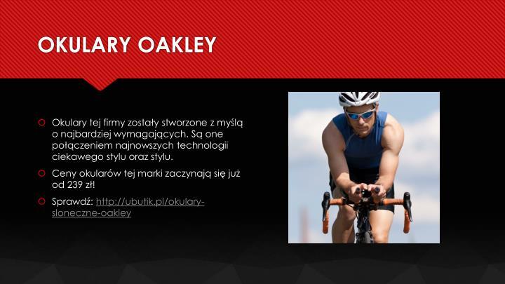 OKULARY OAKLEY