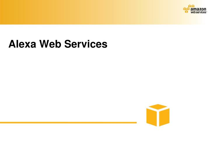 Alexa Web Services