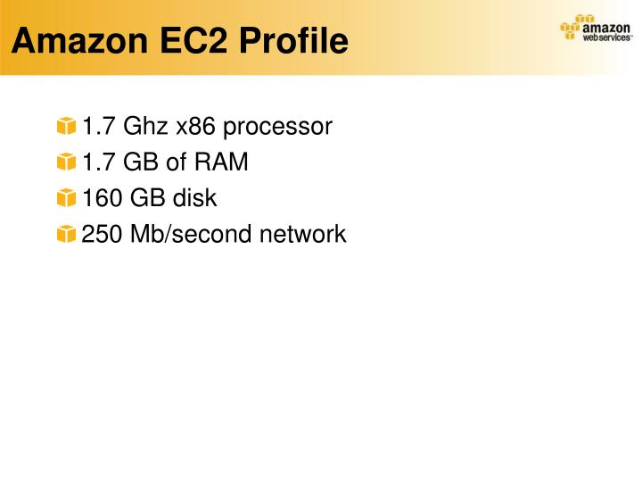 Amazon EC2 Profile