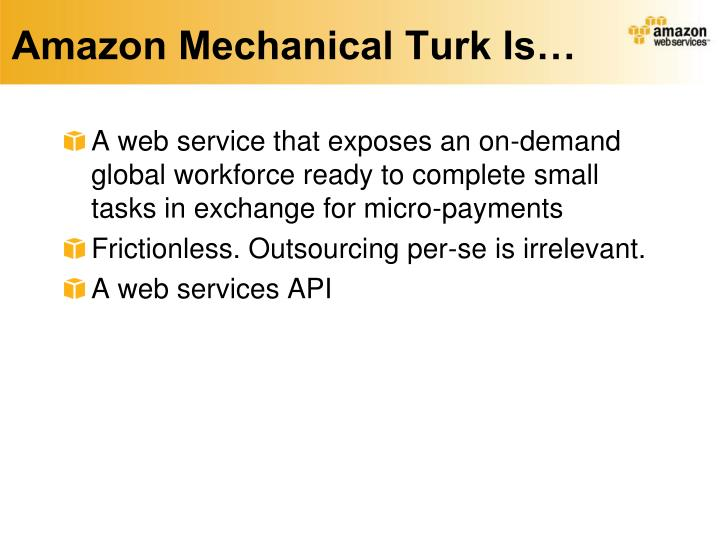 Amazon Mechanical Turk Is…