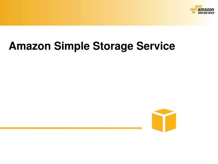 Amazon Simple Storage Service