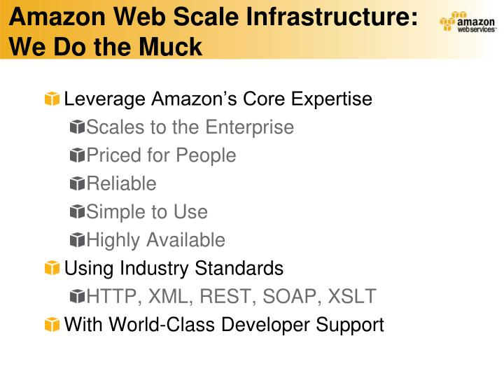 Amazon Web Scale Infrastructure: