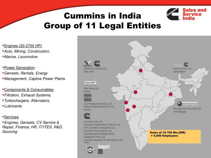 Cummins in India