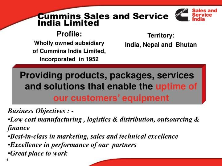 Cummins Sales and Service India Limited