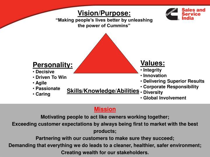 Vision/Purpose: