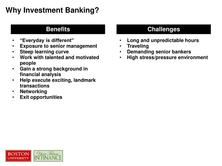 Why Investment Banking?