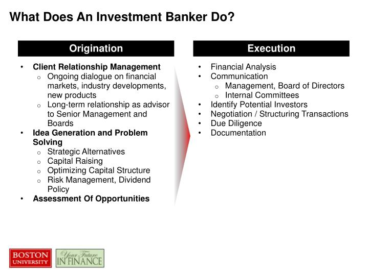 What Does An Investment Banker Do?