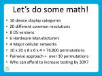 let s do some math