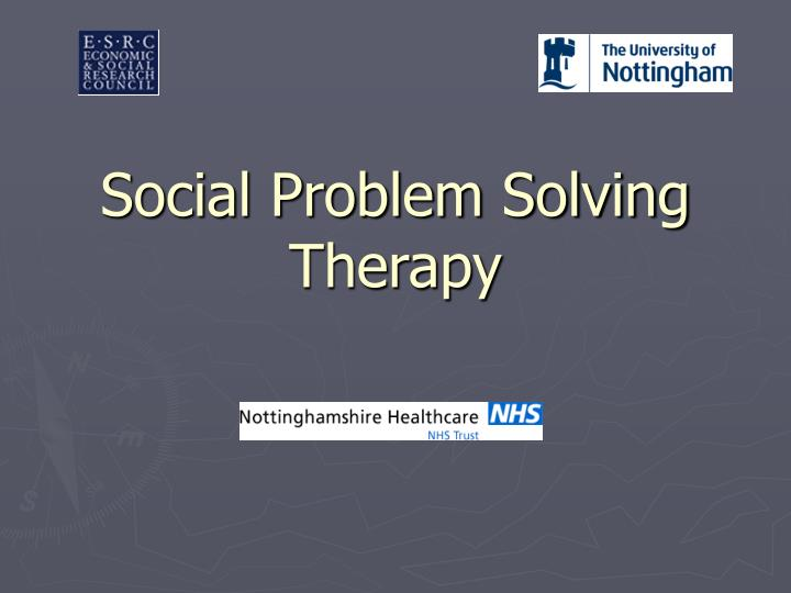social problem solving therapy n.