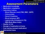 assessment parameters