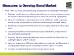 measures to develop bond market