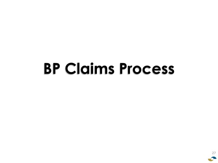 BP Claims Process