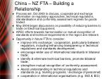 china nz fta building a relationship