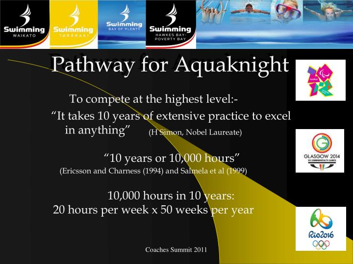 Pathway for Aquaknight