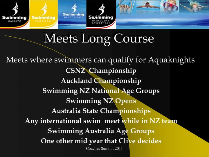 Meets Long Course