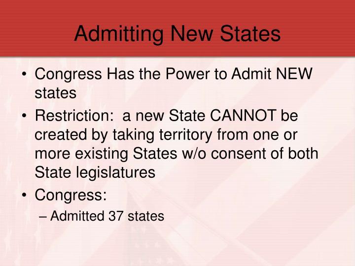 Admitting New States