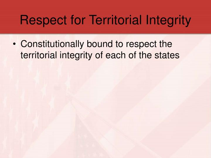 Respect for Territorial Integrity