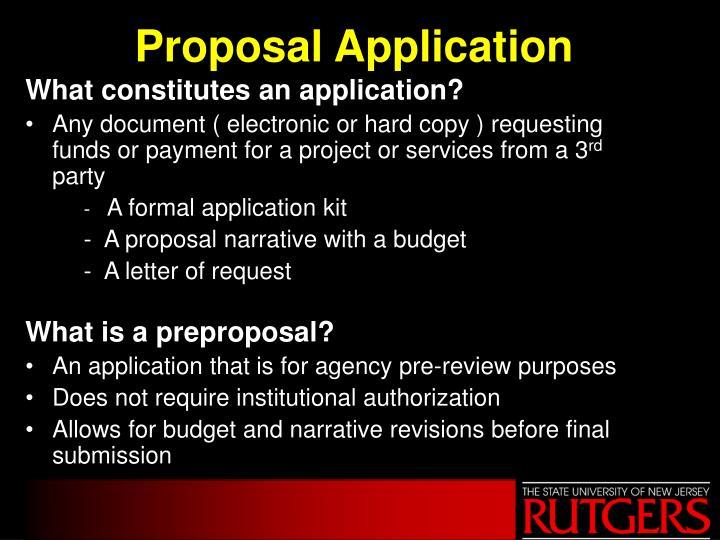 Proposal application