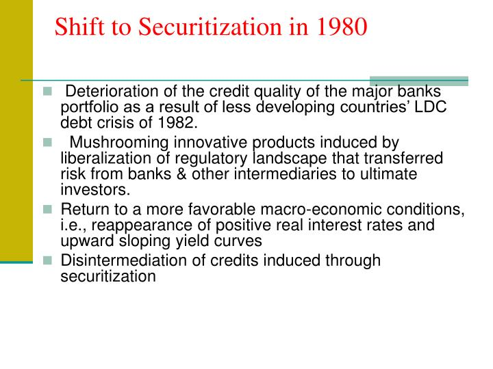 Shift to Securitization in 1980