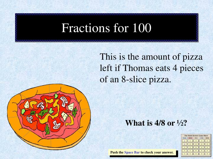 Fractions for 100
