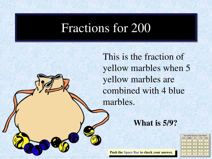 Fractions for 200