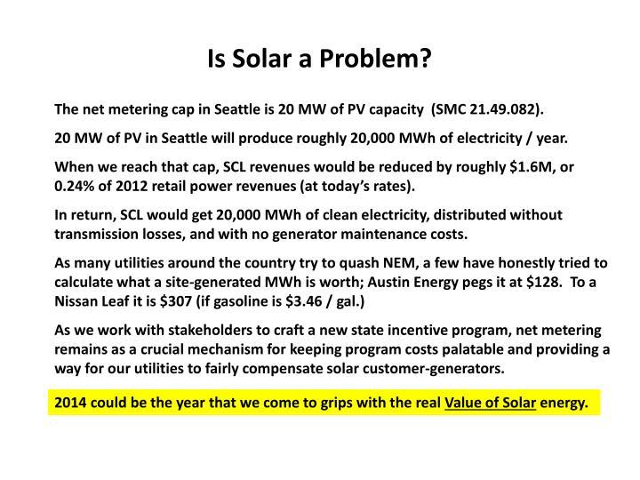 Is Solar a Problem?
