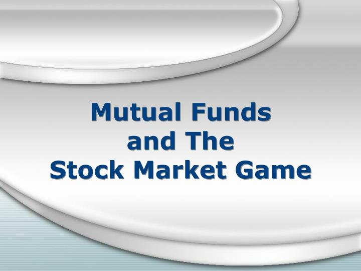 Mutual funds and the stock market game