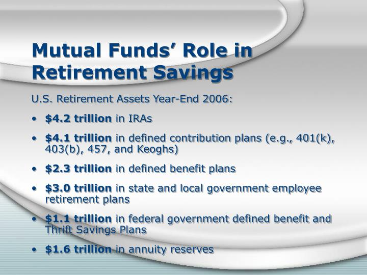 Mutual Funds' Role in Retirement Savings