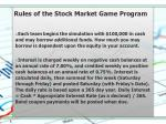 rules of the stock market game program