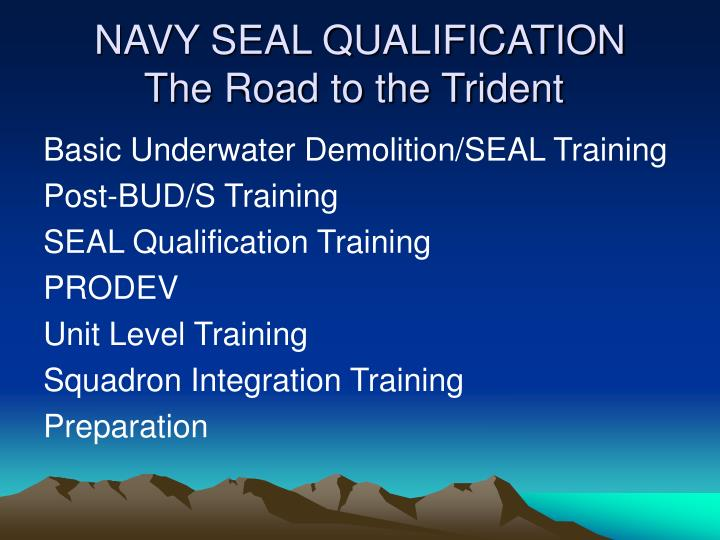 navy seal qualification the road to the trident n.