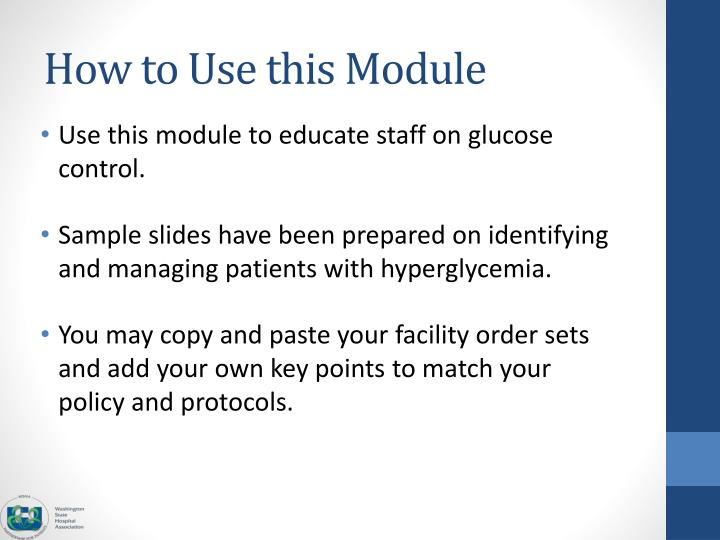 How to use this module