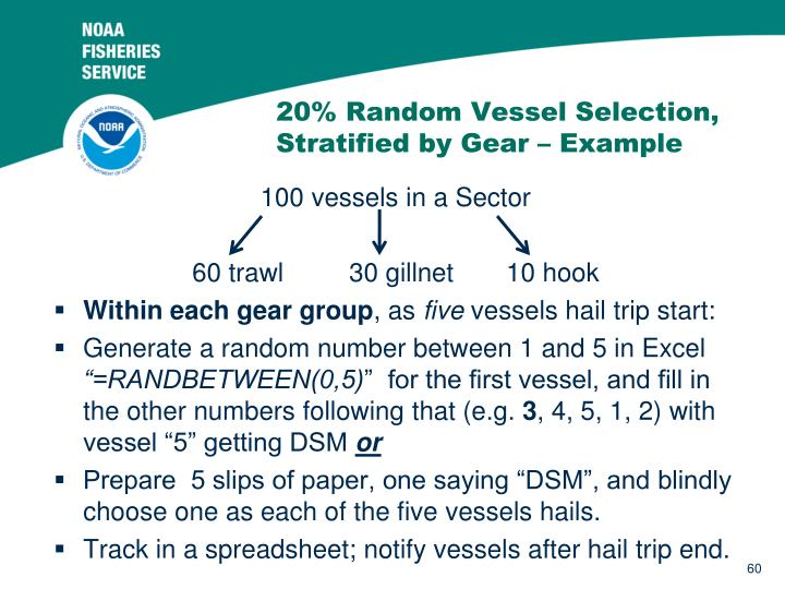 20% Random Vessel Selection, Stratified by Gear – Example
