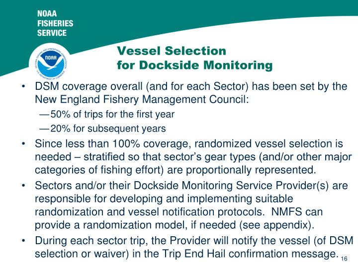 Vessel Selection