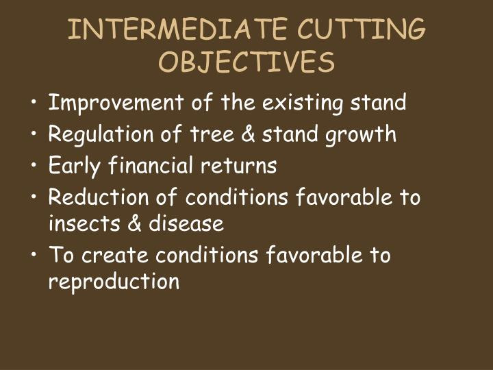 INTERMEDIATE CUTTING OBJECTIVES