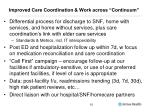 improved care coordination work across continuum