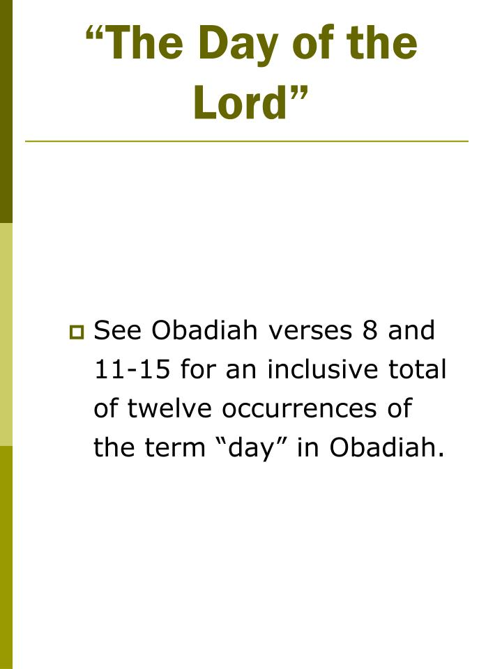 """""""The Day of the Lord"""""""