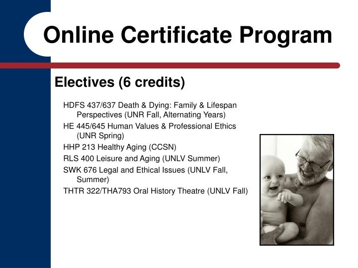 Online Certificate Program