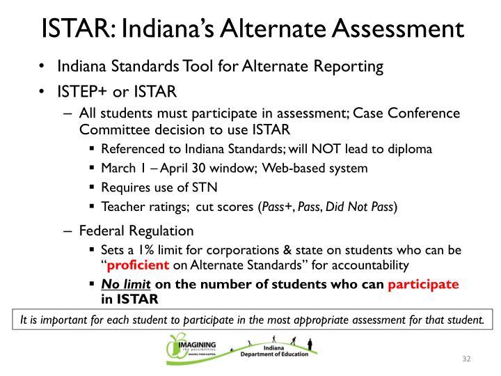 ISTAR: Indiana's Alternate Assessment