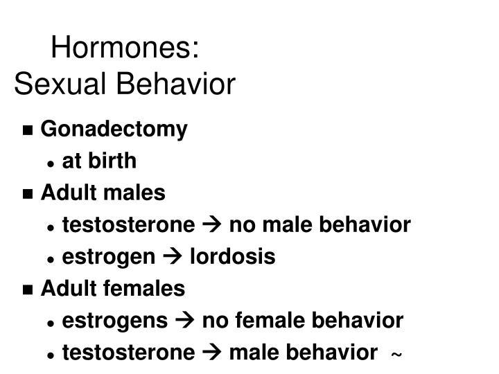 Hormones: