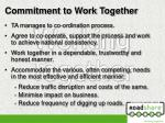 commitment to work together