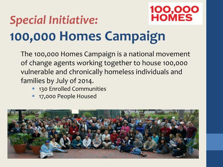 Special Initiative: