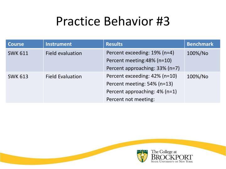 Practice Behavior #3