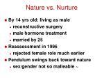 nature vs nurture1