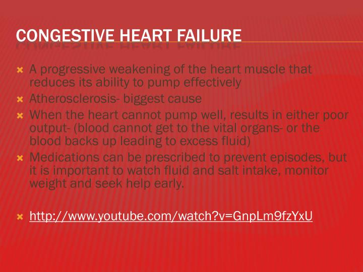 A progressive weakening of the heart muscle that reduces its ability to pump effectively