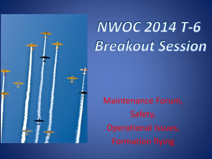 maintenance forum safety operational issues formation flying