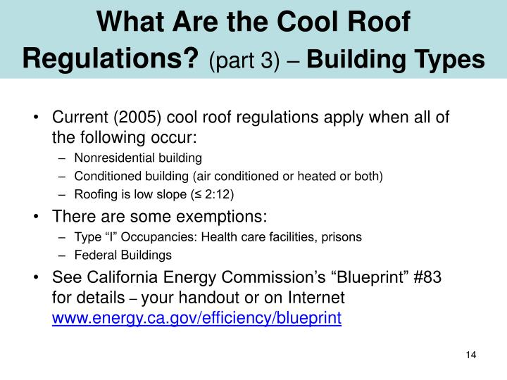 What Are the Cool Roof Regulations?