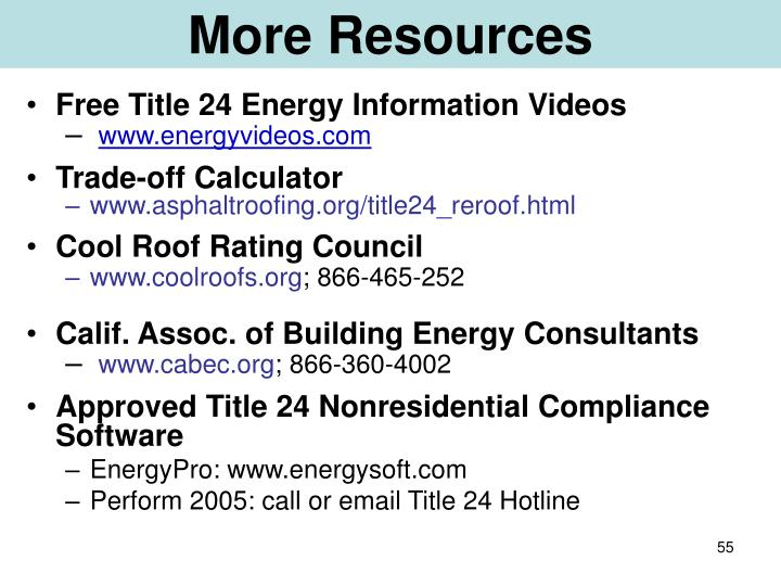 More Resources